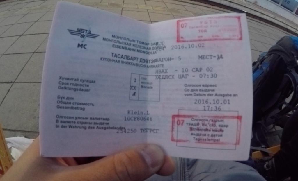 Billet de train