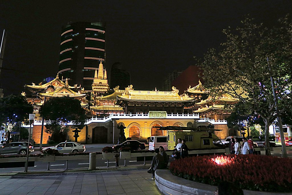 Temple Jing'An by night