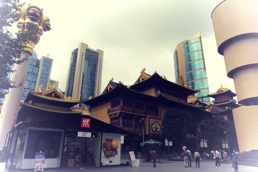 Temple Jing'an de jour