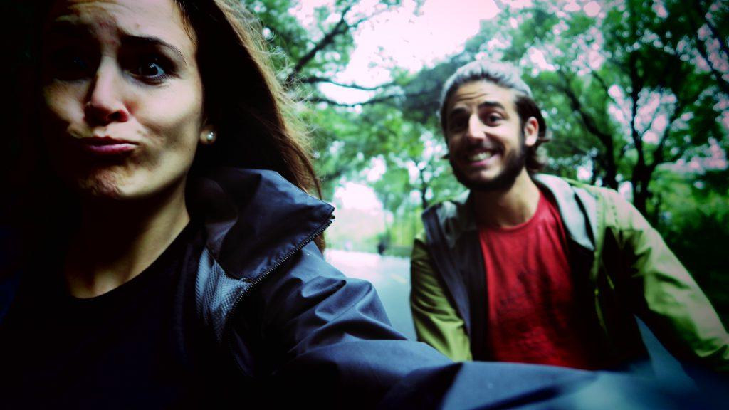 Laura & Zim font du vélo
