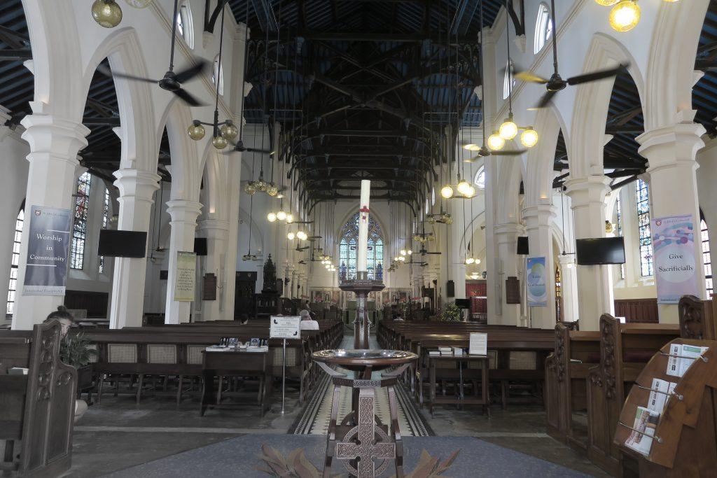 Intérieur de la cathédrale d'HK