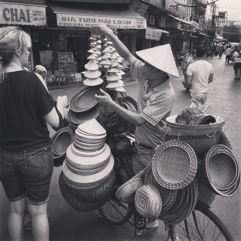 Vendeur de chapeaux