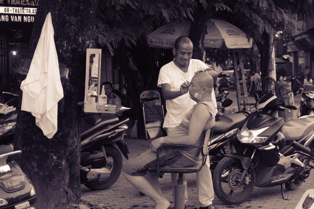 Vietnamese style barbershop