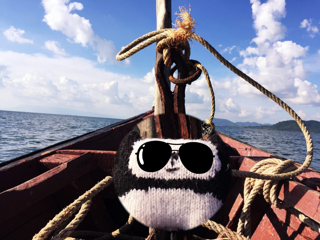kiki sur le bateau