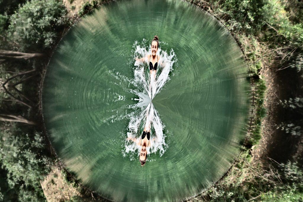Bombe dans le lac
