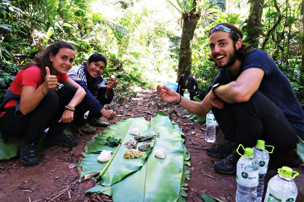 Pause cassecroute dans la jungle