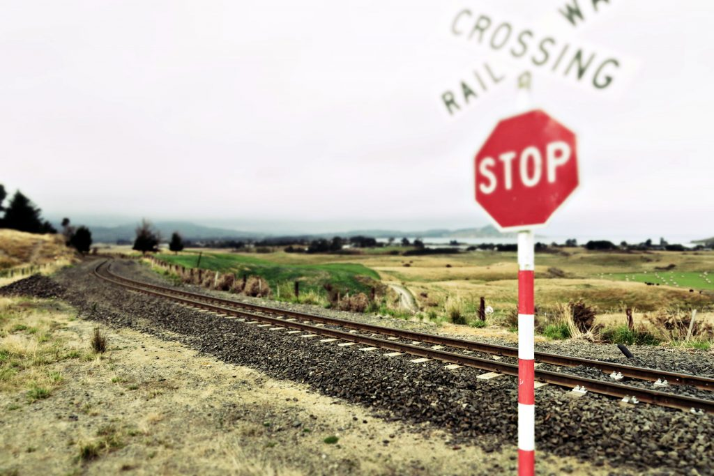 Crossing railway