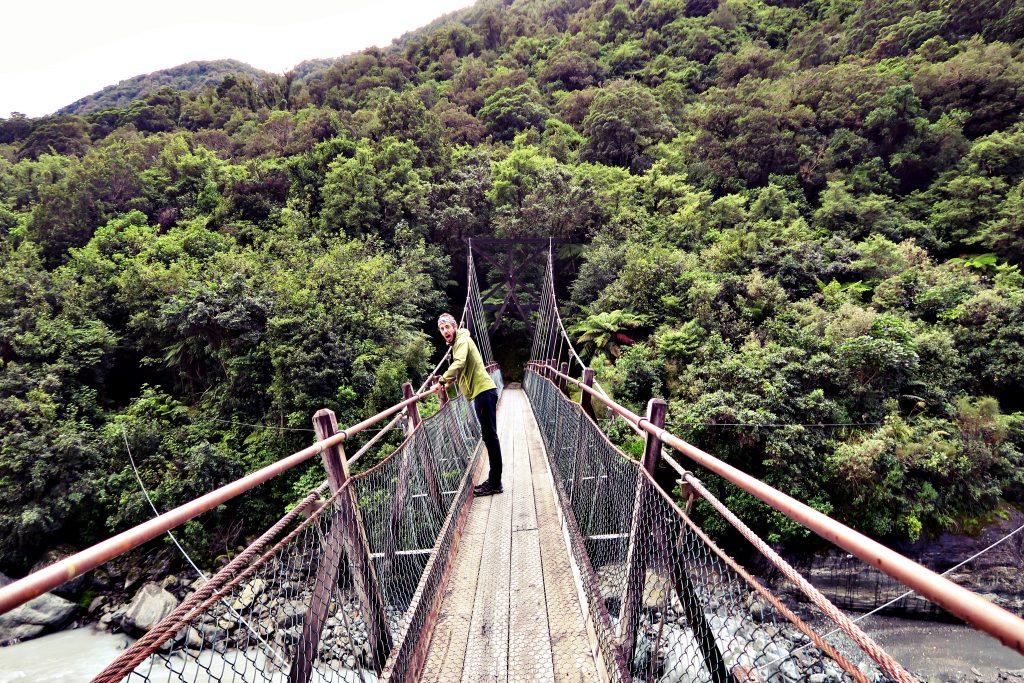Zim sur un pont